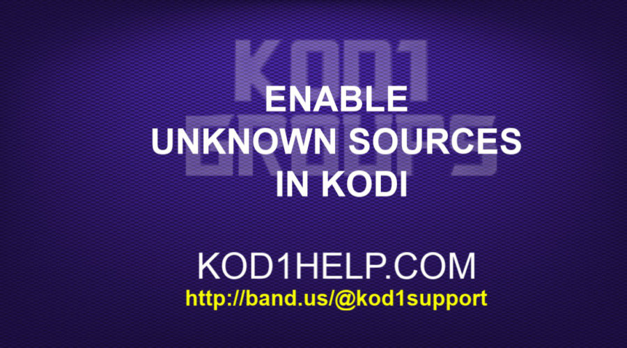 Enable Unknown Sources in Kodi