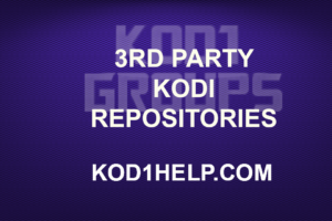 3RD PARTY KODI REPOSITORIES NEW