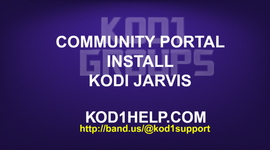 COMMUNITY PORTAL INSTALL KODI 16.1