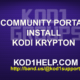 COMMUNITY PORTAL INSTALL KODI KRYPTON