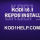 KODI 16.1 REPOS INSTALL