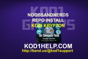 NOOBSANDNERDS REPO INSTALL-KODI KRYPTON