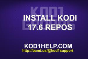 INSTALL KODI 17.6 REPOS