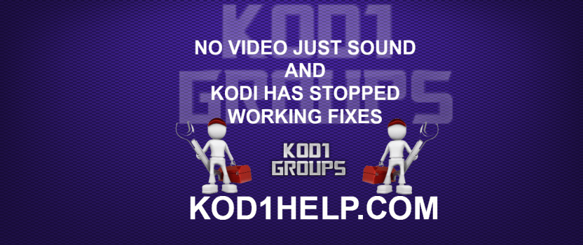 NO VIDEO JUST SOUND FIX FOR KODI