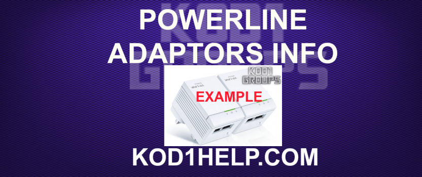 POWERLINE ADAPTORS INFO
