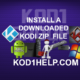 INSTALL A DOWNLOADED KODI ZIP  FILE
