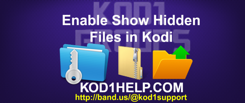 Enable Show Hidden Files in Kodi