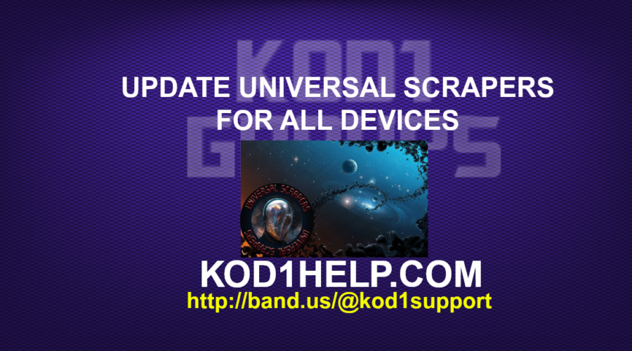 UPDATE UNIVERSAL SCRAPERS FOR ALL DEVICES