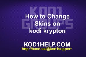 How to Change Skins on kodi krypton