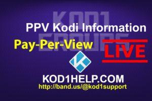 PPV Kodi Information