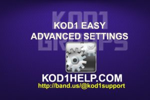 KOD1 EASY ADVANCED SETTINGS