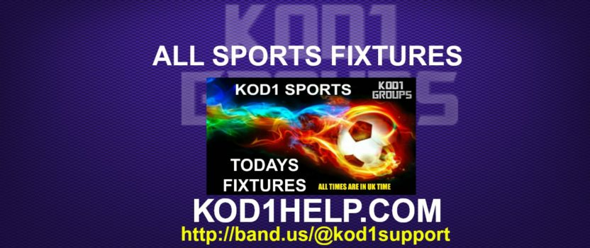 ALL SPORTS FIXTURES