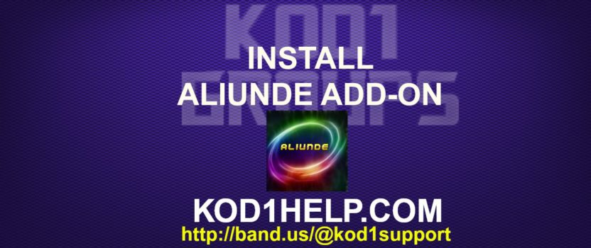 INSTALL ALIUNDE ADD-ON