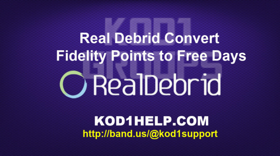 Real Debrid Convert Fidelity Points to Free Days